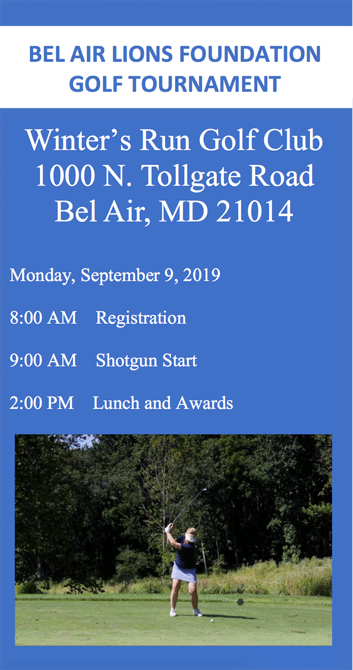 Bel Air Lions' 2019 Golf Tournament